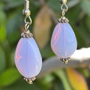Bali Artisan Opaline Sterling Silver Earrings NEW